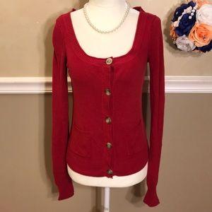 Aeropostale button cardigan sweater w/pockets